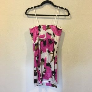 Banana Republic Dresses - BR floral pink strapless dress
